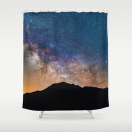 Mountain Galaxy (Color) Shower Curtain