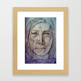 Hollow Horn Bear Framed Art Print
