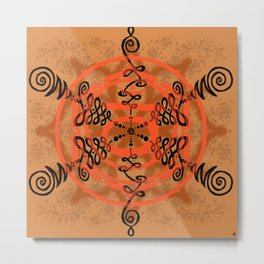 Go With the Flow | Svadhisthana | Sacral Chakra Piece Metal Print