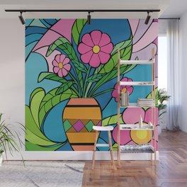 Floral Mosaic Wall Mural