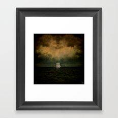 Crossing The Devil's Triangle Framed Art Print