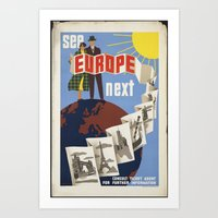 europe Art Prints featuring EUROPE by Kathead Tarot/David Rivera
