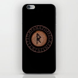 Raidho Elder Futhark Rune Travel, journey, vacation, relocation, evolution, change of place iPhone Skin