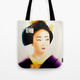 Japanese Geisha oil painting Tote Bag