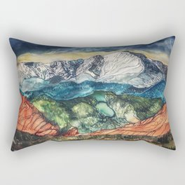 Pikes Peak Print Rectangular Pillow