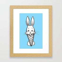 Bunny Cone Framed Art Print