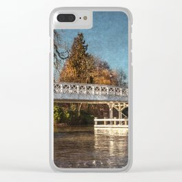 The Toll Bridge At Whitchurch-on-Thames Clear iPhone Case