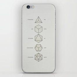 The Platonic Solids iPhone Skin