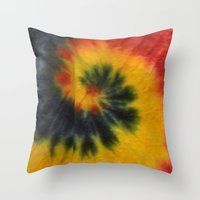 tie dye Throw Pillows featuring Tie Dye  by Mylittleradical