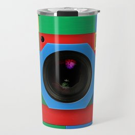 rainbow retro classic vintage camera toys Travel Mug