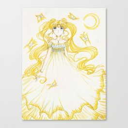 Moon Princess Yellow Canvas Print