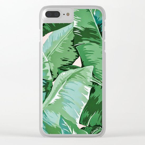 Banana leaf grandeur II Clear iPhone Case