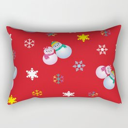 Snowflakes & Pair Snowman_D Rectangular Pillow