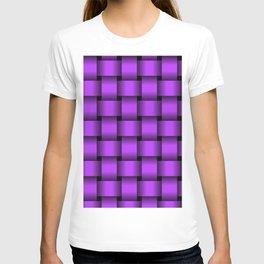 Large Light Violet Weave T-shirt