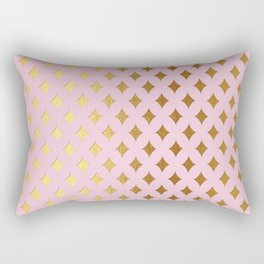 Queenlike - pink and gold elegant quatrefoil ornament pattern Rectangular Pillow