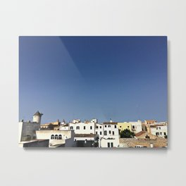 Spanish Island Village Metal Print