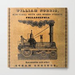 Advertisement for the Philadelphia workshops of William Norris Metal Print