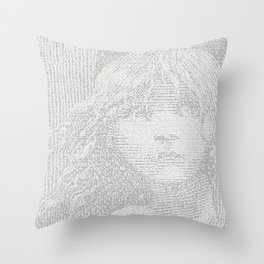 Victor Hugo's SEWER ramblings (Les Miserables) Throw Pillow