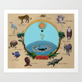Creation Myth (Congo creation myth)  Art Print