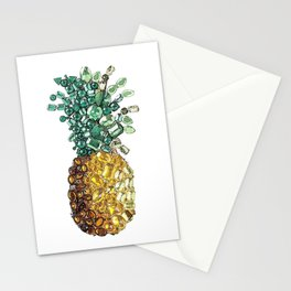 Pineapple by gems Stationery Cards