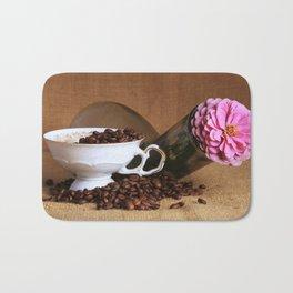 Flower Coffee Bath Mat