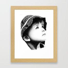 Innocence and curiosity Framed Art Print
