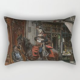 The Dispatch Bearer - Giovanni Boldini Rectangular Pillow