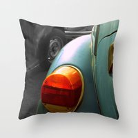 volkswagen Throw Pillows featuring Volkswagen by habish