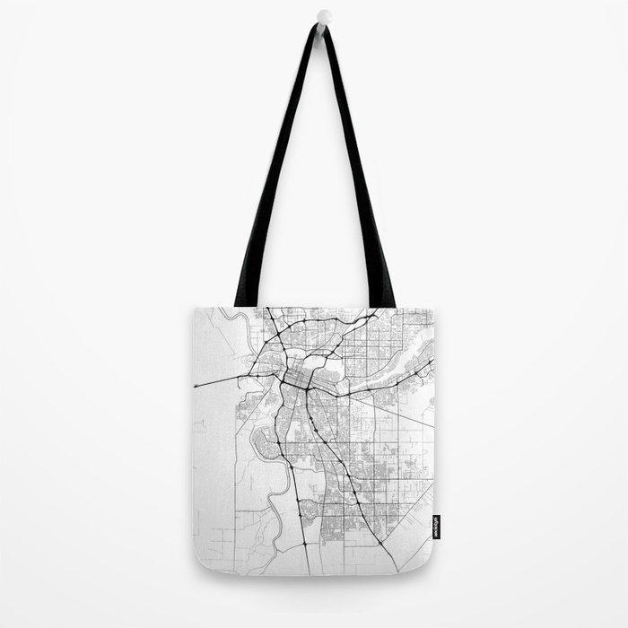Minimal City Maps - Map Of Sacramento, California, United States Tote Bag