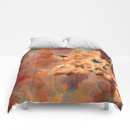 Long Necked Friend Giraffe Art Comforters