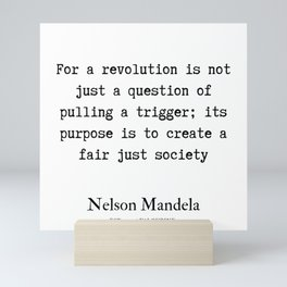 74   | Nelson Mandela  Quotes | 190818 Mini Art Print