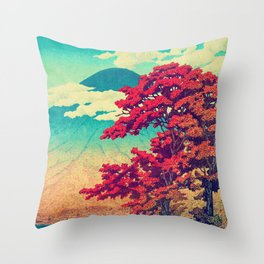 The New Year in Hisseii Throw Pillow