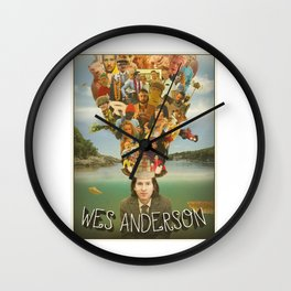 The Mind of Wes Anderson Wall Clock