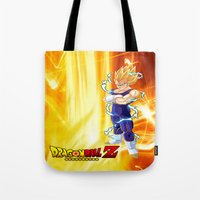dragonball z Tote Bags featuring Vegeta Dragonball Z best idea by customgift