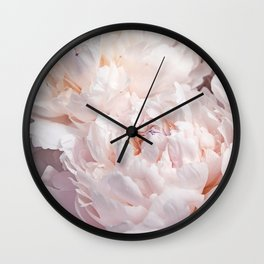 Floral Photography | Peony Pink Cluster | Flowers | Botanical | Plant Wall Clock