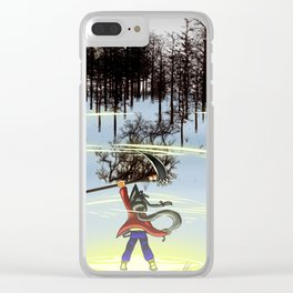 A moment of triumph Clear iPhone Case