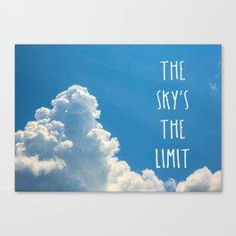 Sky's the limit - cloudscape Canvas Print