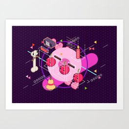 Tasty Visuals - Cherry Picker Art Print
