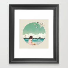 Calm ocean Framed Art Print