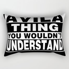 AVILA Surname Personalized Gift Rectangular Pillow