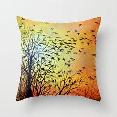 Abstract Landscape Original Painting...HOMEWARD Throw Pillow