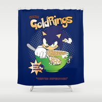 sonic Shower Curtains featuring Sonic Cereal by Icemanire
