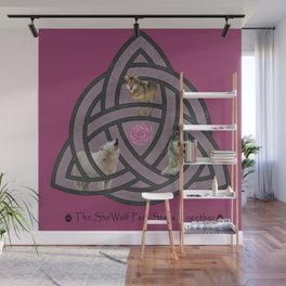 She Wolf Pack Wall Mural