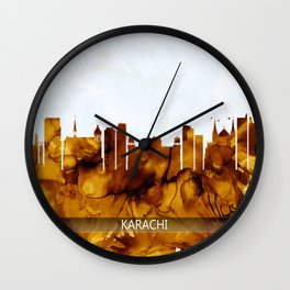 Karachi Skyline Pakistan Wall Clock