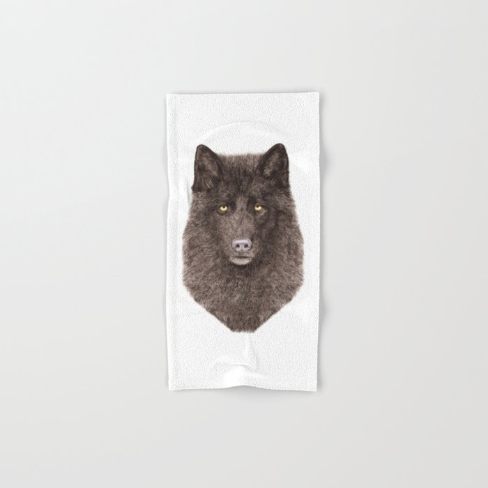 Black Wolf Hand & Bath Towel