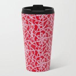 Candy cane flower pattern 2a Travel Mug