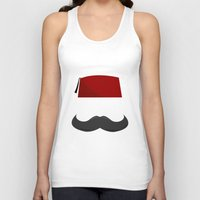 fez Tank Tops featuring Man with a Fez by Emir Simsek
