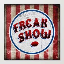 """FREAK SHOW"" Bullet Canvas Print"