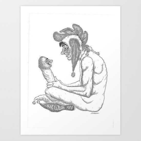 The Defamation of Normal Rockwell I (NSFW) Art Print