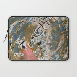Symphony [2]: colorful abstract piece in gray, brown, pink, black and white Laptop Sleeve